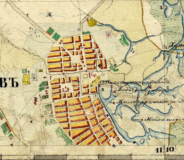 План города Тамбова 1851-1852